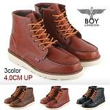[보이런던]BoyLondon - B321 비젼하이 4CM-키높이 워커 부츠(버건디)-남성용 캐주얼 남자 신발 레드윙 가죽 무료배송