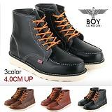 [보이런던]BoyLondon - B321 비젼하이 4CM-키높이 워커 부츠(블랙)-남성용 캐주얼 남자 신발 레드윙 가죽 무료배송