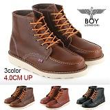 [보이런던]BoyLondon - B321 비젼하이 4CM-키높이 워커 부츠(브라운)-남성용 캐주얼 남자 신발 레드윙 가죽 무료배송