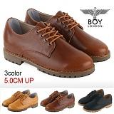 [보이런던]BoyLondon - G324 모토 5CM-키높이 로퍼(브라운)-남성용 캐주얼 남자 신발 마틴 구두 가죽 무료배송