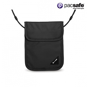 [팩세이프]PACSAFE - Coversafe X75 Black (스틸 와이어가 내장된 목걸이형 안전지갑)