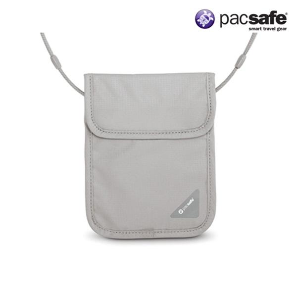 [팩세이프]PACSAFE - Coversafe X75 Neutral Grey 공식수입정품 (스틸 와이어가 내장된 목걸이형 안전지갑)