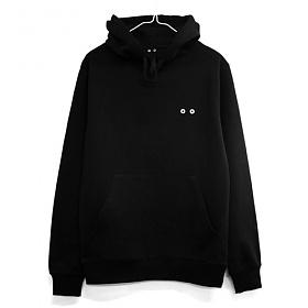 [이치니] ichiny big symbol black hood 후드티