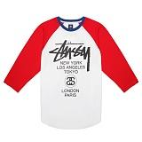 [������]STUSSY - 14SS BASEBALL WT RAGLAN 114669 (RED) ������� ����
