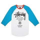 [������]STUSSY - BASEBALL WT RAGLAN 114669 (TURQUOISE) ������� ����