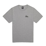 [������]STUSSY - 14SS BASIC LOGO TEE 1903215 (GREY HEATHER) ����Ƽ