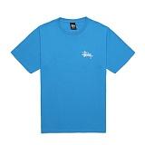 [������]STUSSY - 14SS BASIC LOGO TEE 1903215 (BRITE BLUE) ����Ƽ