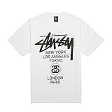 [������]STUSSY - 14SS WORLD TOUR TEE 1903266 (WHITE) ������� ����Ƽ