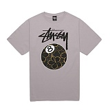 [������]STUSSY - 14SS GOLD FLAKE 8 BALL TEE 1903228 (GREY) ����Ƽ