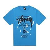 [������]STUSSY - 14SS WT BIRDS TEE 1903267 (BRITE BLUE) ������� ����Ƽ