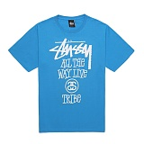 [������]STUSSY - 14SS ALL THE WAY LIVE TEE 1903214 (BRITE BLUE) ����Ƽ
