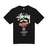 [������]STUSSY - 14SS ON TOUR TEE 1903240 (BLACK) ����Ƽ