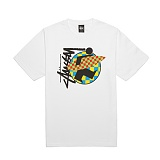 [������]STUSSY - 14SS SURFMAN CHECK TEE 1903259 (WHITE) ����Ƽ