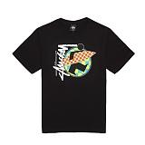 [������]STUSSY - SURFMAN CHECK TEE 1903259 (BLACK) ����Ƽ