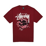 [������]STUSSY - 14SS POP SKATEMAN TEE 1903242 (DARK RED) ����Ƽ