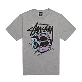 [������]STUSSY - 14SS POP SKATEMAN TEE 1903242 (GREY HEATHER) ����Ƽ