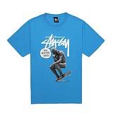 [������]STUSSY - SKATE STATUE TEE 1903250 (BRITE BLUE) ����Ƽ