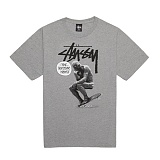 [������]STUSSY - 14SS SKATE STATUE TEE 1903250 (GREY HEATHER) ����Ƽ