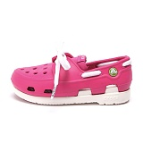 [크록스키즈]CROCS - BEACH LINE BOAT SHOE LACE PS (FUCHSIA/WHITE) 15915-69C