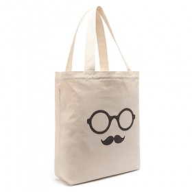 [로디스]LODIS - MOUSTACHE ECO BAG - HERRINGBONE 에코백