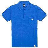 [유니어패럴] UNIAPPAREL 윙로고 포켓 폴로셔츠 (블루) pk티셔츠