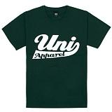 [유니어패럴] UNIAPPAREL 유니로고 프린트 반팔티 (카키)
