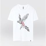 [더셔츠] ruby dot bird - 남여공용 그래픽 일러스트 반팔티셔츠