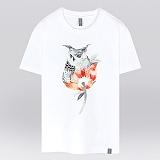 [더셔츠] owl flower - 남여공용 그래픽 일러스트 반팔티셔츠
