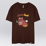 [더셔츠] choco donut - 남여공용 그래픽 일러스트 반팔티셔츠