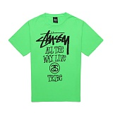 [������]STUSSY - 14SS ALL THE WAY LIVE TEE 1903214 (NEON GREEN) ����Ƽ