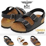 [보이런던]BoyLondon - J344 샘킴 밀라노 샌들(블랙)-남녀공용 캐주얼 버켄 남자 여자 슬리퍼 조리 샌달 여름 신발