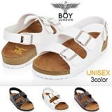 [보이런던]BoyLondon - J344 샘킴 밀라노 샌들(화이트)-남녀공용 캐주얼 버켄 남자 여자 슬리퍼 조리 샌달 여름 신발