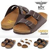 [보이런던]boylondon-j345 다이버 아리조나 슬리퍼(브라운)-남녀공용 커플 버켄 남자 여자 슬리퍼 조리 샌달 여름 신발