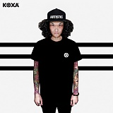 [코싸] koxa big symbol short black 반팔티
