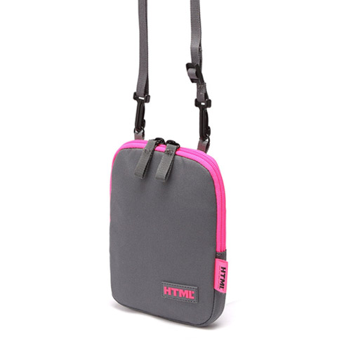 [에이치티엠엘]HTML- I1 Crossbag (M.GRAY/HOT PINK)