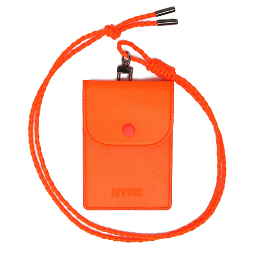 [에이치티엠엘]HTML- Classic Card Holder.H (NEON ORANGE)