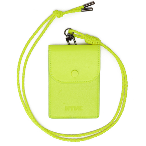 [에이치티엠엘]HTML- Classic Card Holder.H (NEON YELLOW)