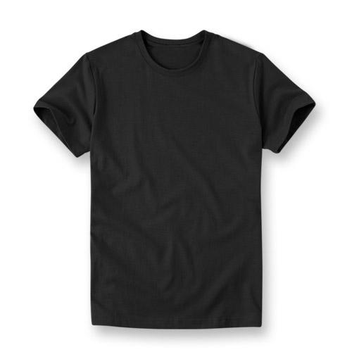 아우라 - 프리미엄 티셔츠 M~3XL BIG SIZE 무지티 라운드 블랙