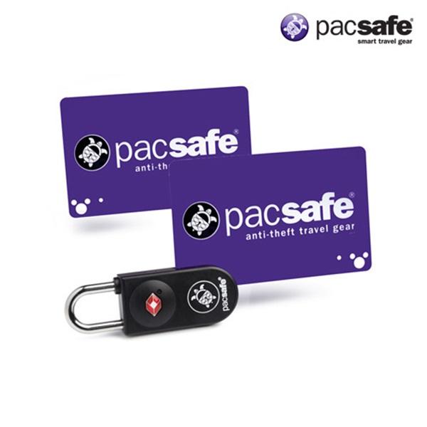 [팩세이프]PACSAFE - Prosafe 750 Black 공식수입정품 (열쇠 대신 카드키를 사용하는 신개념 TSA 미국교통보안국 인증 자물쇠)