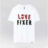 [더셔츠] love fixer - 남여공용 그래픽 일러스트 반팔티셔츠