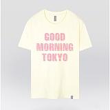 [더셔츠] good morning Tokyo - 남여공용 그래픽 일러스트 반팔티셔츠