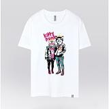 [더셔츠] kitty punk - 남여공용 그래픽 일러스트 반팔티셔츠