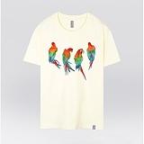 [더셔츠] rainbow Parrot - 남여공용 그래픽 일러스트 반팔티셔츠