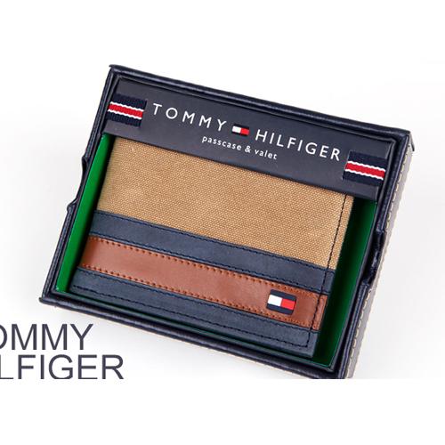 [타미힐피거] TOMMY HILFIGER PASSCASE BILLFOLD 4896_khaki_지갑,반지갑,남성지갑