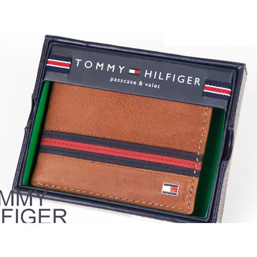 [타미힐피거] TOMMY HILFIGER  PASSCASE BILLFOLE 5082_TAN_지갑,반지갑,남성지갑