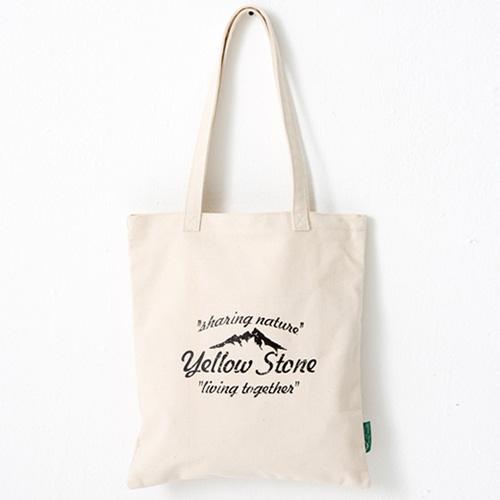 [옐로우스톤] 빈티지 에코백 tage eco bag - ys2015ft 베이지 폰트_크로스백 가방