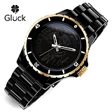 [Gluck]글륵 행운의 시계 GL1312-BK 본사정품 남여공용 수능시계
