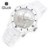 [Gluck]글륵 행운의 시계 GL1312-WH 본사정품 남여공용 수능시계