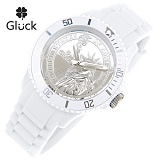 [Gluck]글륵 행운의 시계 GL1313-WH 본사정품 남여공용 수능시계