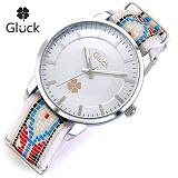 [Gluck]글륵 행운의 시계 GL1302-WHPK 패턴 나토밴드 본사정품 수능시계